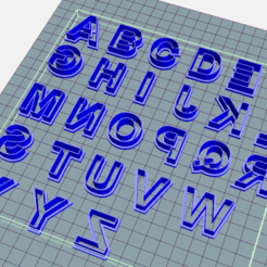 Download STL Alphabet - Alphabet - Cutter, Josualuis
