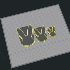 5.jpg Download STL file Little Bunny - Face - Easter • 3D print object, Josualuis