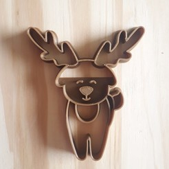 20201112_143125.jpg Download STL file Deer - Christmas - Cookie Cutter • Design to 3D print, Josualuis