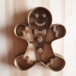 20201112_142806.jpg Download STL file Gingerbread Man - Christmas - Cookie Cutter • 3D print object, Josualuis