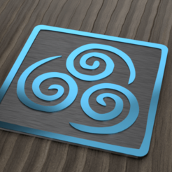 agua render.png Download STL file coaster the nomads of the air • 3D printer design, 3liasD
