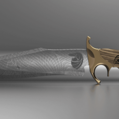 Download free STL file bowie knife • 3D printer template, 3liasD