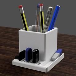 CUBE v7.jpg Download STL file desktop organizer PC (desktop) • 3D print design, 3liasD