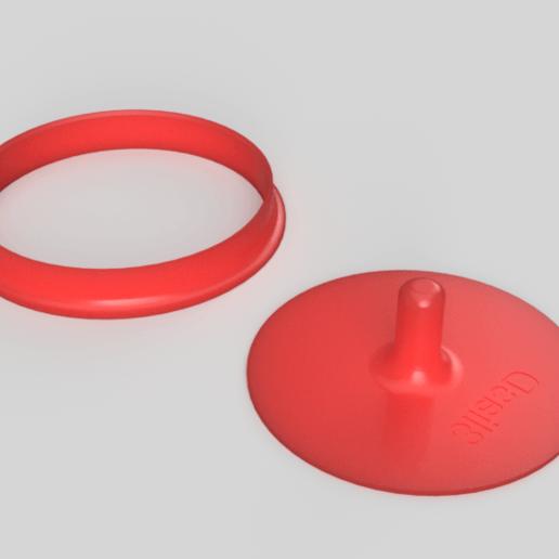 Download free STL file hamburger patty • 3D printer template, 3liasD
