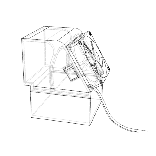 dibujo1.png Télécharger fichier STL gratuit mini climatiseur de bureau • Objet pour impression 3D, 3liasD