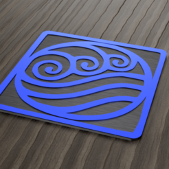 Untitled v1.png Download STL file water tribe coaster • 3D printable object, 3liasD