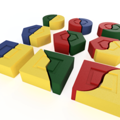 Download free STL file puzzle • 3D printing model, 3liasD