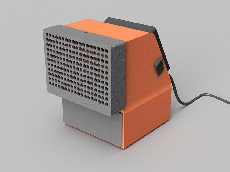 aire acondicionado v6.png Télécharger fichier STL gratuit mini climatiseur de bureau • Objet pour impression 3D, 3liasD