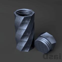 123.png Télécharger fichier STL bocal, bocal • Objet imprimable en 3D, 3liasD