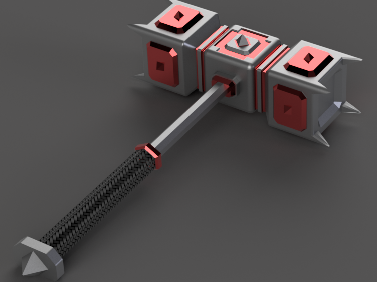 maza v5.png Télécharger fichier STL gratuit marteau de guerre • Modèle imprimable en 3D, 3liasD