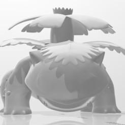 Venusaur1.jpg Download OBJ file Venusaur • 3D printing object, willybyron