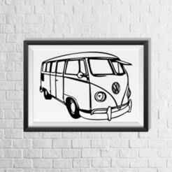 3D printer models VW Bus, evilyndra