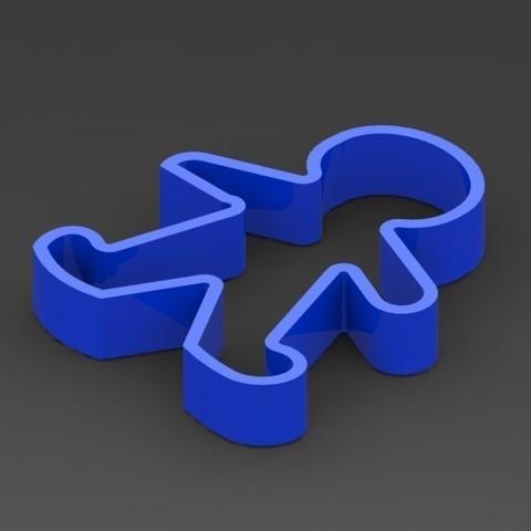 muñeco.JPG Download STL file cookie-doll cutter • 3D printer model, deyson20