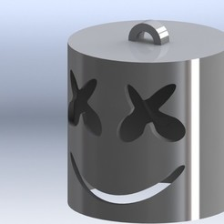 diseños 3d Llavero Marshmello, deyson20