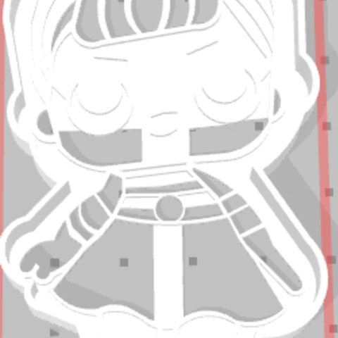 m.png Download STL file Cutting little doll LoL • Template to 3D print, i3dargentina