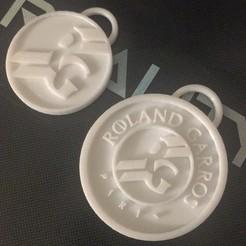 Archivos STL gratis Roland Garros key chain/Llavero Roland Garros, juancruzdl