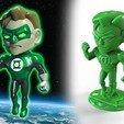 Fichier imprimante 3D Lanterne verte - version Chibi, diegokrause