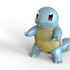 squirtle (1).jpg Download free STL file Squirtle - Pokemon • 3D print object, diegokrause