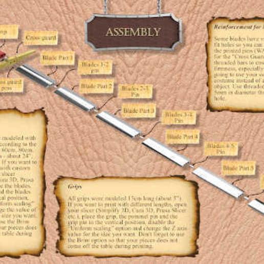 Assembly.jpg Download STL file The Ultimate Oakeshott's Knight Swords Pack • 3D printing template, eduardosr