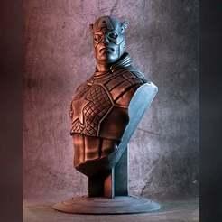 1000X1000-cap-thumb-color-1.jpg Download free STL file Captain America bust (fan art) • 3D print design, eastman