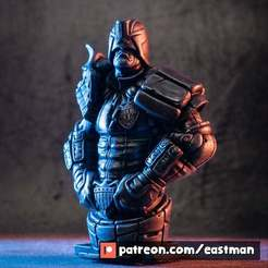 Download free 3D printing designs Judge Dredd (fan art), eastman
