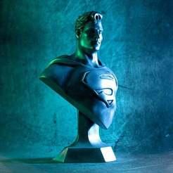 1000X1000-superman-bust-thumb-color-2.jpg Download free STL file Man of Steel bust (fan art) • Design to 3D print, eastman
