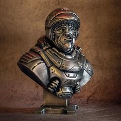 """sarge_bust_bw_1.jpg Télécharger fichier STL """"Sarge"""" - An Eastman Original • Modèle pour impression 3D, eastman"""