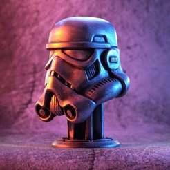 1000X1000-stormtrooper-helmet-thumb-colour-1.jpg Télécharger fichier STL gratuit Casque de stormtrooper sur Piedestal (fan art) • Objet pour imprimante 3D, eastman