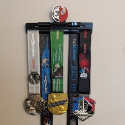 Download 3D printer designs Star Wars Medal Rack, ianmclein