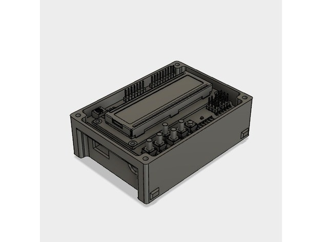 de34cb41d77a42212266f0786888f659_preview_featured.jpg Download STL file 3D Print Case for Arduino Uno with LCD Shield and DHT22 • 3D printer design, metac