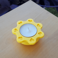 TLH1.png Download free STL file DAISY T-LIGHT • 3D print object, metac