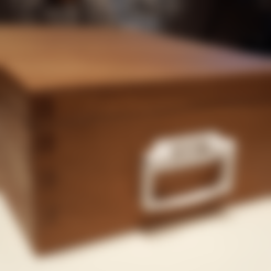 BoxHandle_Alternative.stl Download STL file Handle for Wooden Boxes • Model to 3D print, metac