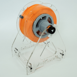 3d printer designs Filament Spool Shaft w/ Proper Friction, metac