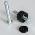 Capture d'écran 2018-07-05 à 14.40.29.png Download STL file Cylindrical Knob with ISO Hex Head M8 Bolt • 3D printable design, metac