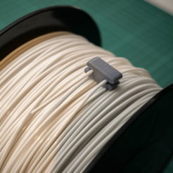 Modèle 3D Spool Independent Filament Filament Wire Clip, metac