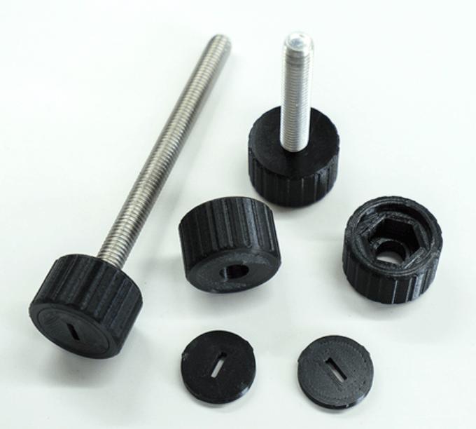 Capture d'écran 2018-07-05 à 14.40.33.png Download STL file Cylindrical Knob with ISO Hex Head M8 Bolt • 3D printable design, metac