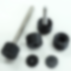 CAP_Mk2.stl Download STL file Cylindrical Knob with ISO Hex Head M8 Bolt • 3D printable design, metac