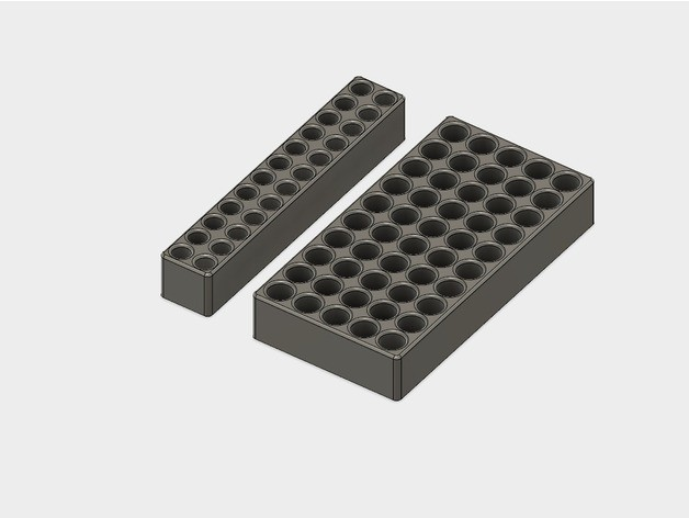74ce9c8d6fb9d4ee05fb6fd53d9fb097_preview_featured.jpg Download STL file Battery Storage Box for AA and AAA sizes • Template to 3D print, metac