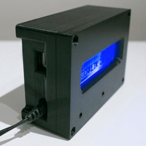 Capture d'écran 2018-07-05 à 14.11.01.png Download STL file 3D Print Case for Arduino Uno with LCD Shield and DHT22 • 3D printer design, metac