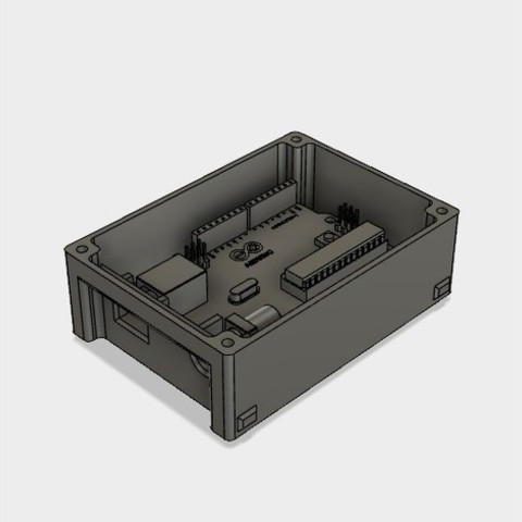 9ca4fe5628f3385311817a5e2288bda0_preview_featured.jpg Download STL file 3D Print Case for Arduino Uno with LCD Shield and DHT22 • 3D printer design, metac
