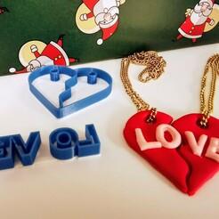 """cutter.jpg Download STL file Broken Heart cutter """"love"""" • Template to 3D print, bennyvromans"""