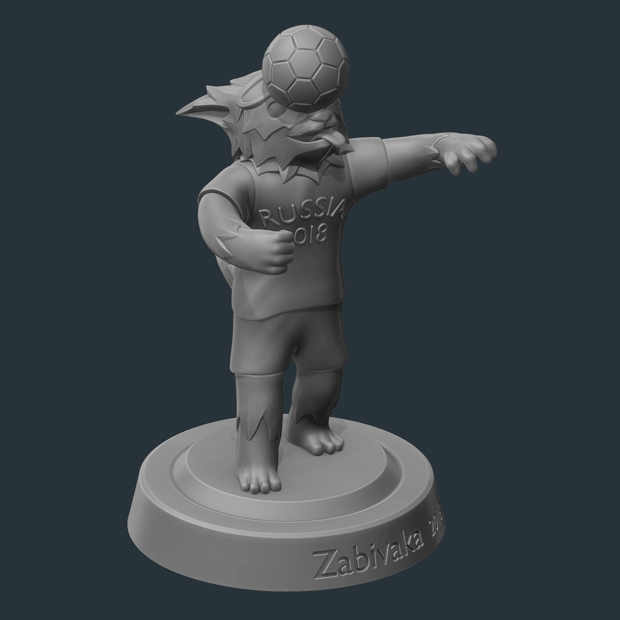 2.png Download OBJ file Zabivaka World Cup 2018 Mascot • 3D printer template, NoEvil116