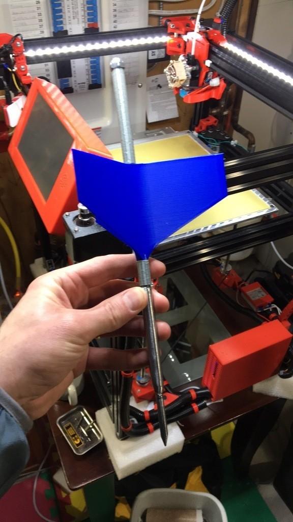 a5a16f58105f899d8351a1483b4f98a0_display_large.JPG Télécharger fichier STL gratuit Ailerons de fléchettes de pelouse avec limes Fusion360 • Modèle pour impression 3D, Phaedrux