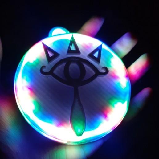 Download free 3D printing designs Eye of Truth (Legend of Zelda) Pendant - 24 RGB LED Ring, zombiekitten