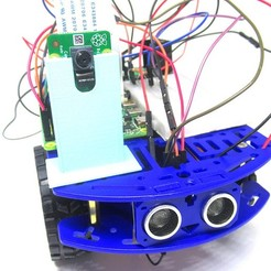 Download free STL file Raspberry Pi Camera Mount for 2WD Robot Chassis, zombiekitten