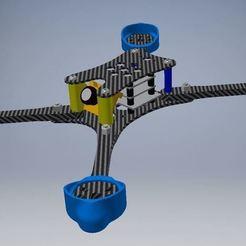 assembly4.JPG Download free STL file Skinny B*tch FPV racing frame • 3D printable object, Mulder