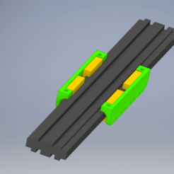 Download free STL file MGN12 linear rail adapter for CR10 Mini Y axis • 3D printable template, Mulder