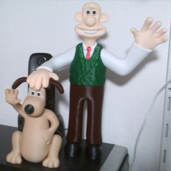 Free 3D print files Wallace and Gromit, pascaldot