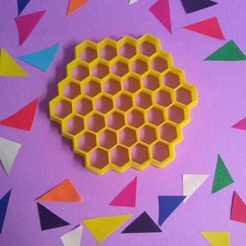 panal de abeja.jpg Télécharger fichier STL Coupe-biscuits en nid d'abeille • Design imprimable en 3D, 3DLuxe