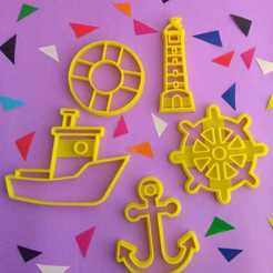 Impresiones 3D Set x 5 Sailor Cooki Cutter , 3DLuxe